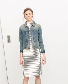 Image 1 of DENIM JACKET from Zara