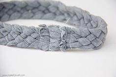 5 strand braided tshirt headband