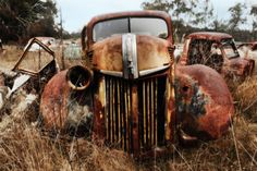 -Old Rusty Cars Classic Trucks 1936 Ford Coupe 1948 Hudson Commodore ...
