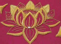 A Brief History of Goldwork – Well Embroidered Couture Embroidery, Gold Embroidery, Crewel Embroidery, Embroidery Kits, Embroidery Stitches Tutorial, Flower Embroidery Designs, Embroidery Techniques, Flower Designs, Couching Stitch
