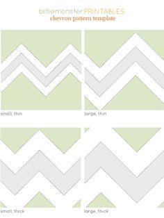 printable chevron patterns