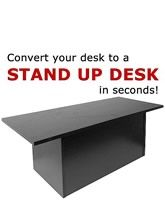 LampsUSA | TALL Speedy Stand Up Portable Desk - Dark Red Cocoa