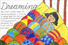 Art Projects for Kids: How to Draw a Dreaming Story. Project combines art and math and writing. PDF available for download for free.