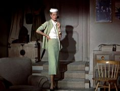 I absolutely adore Grace Kelly's sea foam suit in Rear Window... it's exquisite in every way, and so are the hat, gloves and bracelet with which she accessorizes it...it reminds me a bit of the suit worn by Tippi Hedren in The Birds...