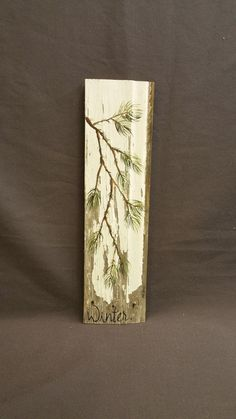 Christmas GIFTS UNDER 25 Hand painted Pine by TheWhiteBirchStudio