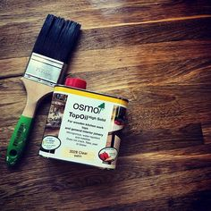 Sanding and oiling some kitchen worktops today with @osmo_uk