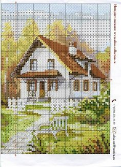 Thrilling Designing Your Own Cross Stitch Embroidery Patterns Ideas. Exhilarating Designing Your Own Cross Stitch Embroidery Patterns Ideas. Cross Stitch House, Cross Stitch Kits, Cross Stitch Charts, Funny Cross Stitch Patterns, Cross Stitch Designs, Cross Stitching, Cross Stitch Embroidery, Cross Stitch Geometric, Cross Stitch Landscape