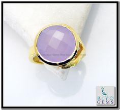 Rose Quartz Gem Stone 18 C Gold Platings Friendship Ring Sz 6 Gprroq6-6807 http://www.riyogems.com