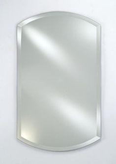 Afina Double Arch Top Frameless Beveled Mirror- No Tilt Brackets RM-926