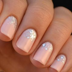 pink and crystal manicure - Google Search