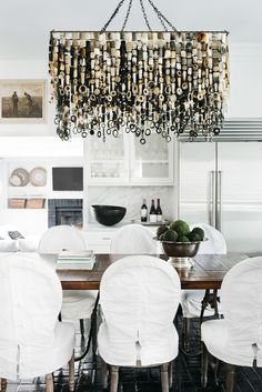 Shop Chairish, the design lover's curated marketplace for the best in vintage and contemporary furniture, decor and art. Rectangular Chandelier, Cow Horns, Contemporary Furniture, Home Furnishings, Bulb, Ceiling Lights, Lighting, Oasis, Homes
