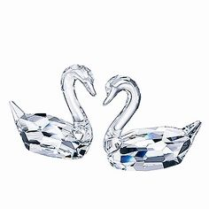 Swarovski Crystal Flirting Swans New in Box | eBay