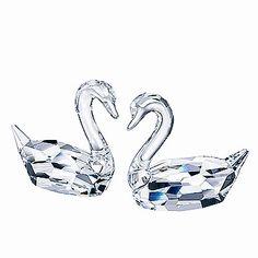 Swarovski Crystal Flirting Swans New in Box | eBay