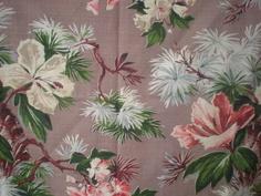 Vintage Floral Barkcloth Curtain by retrOKC, $120.00