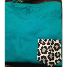 Turquoise t with grey cheetah frocket by Alsfrockets on Etsy via Polyvore