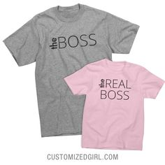 The Boss is in the house, and it is Father's Day. You and your daughter know who the real boss is, but today is your day. So you can be the boss for a little while. Check out the matching daughter shirt!