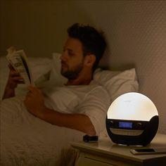 Lumie Bodyclock Luxe 700 - Wake-up Light with Bluetooth Audio and Low-Blue Sleep Light Blue Options, Dab Radio, Home Gadgets, Wake Up, Sleep, Uk Health, Bluetooth, Audio, Personal Care