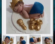 Baby PRINCE - Baby Shower Cake Topper First Birthday decorations ready for your home made cake