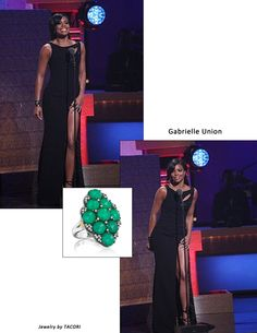 Gabrielle Union sparkled in the Pantone Color of the year: Emerald Green!