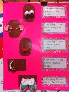 Love this idea of using a Mr. Potato Head to teach class rules and expectations