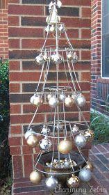 Charming Zebra: Lampshade Christmas Tree