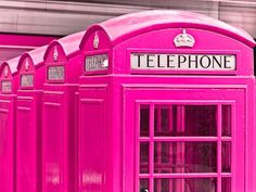 'Pink Telephone Boxes, London' by Assaf Frank