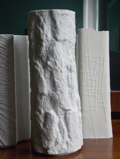 white porcelain tree bark SIlvana vase Bareuther Waldsassen Ernst Fenzl design from MidCenturyFLA,