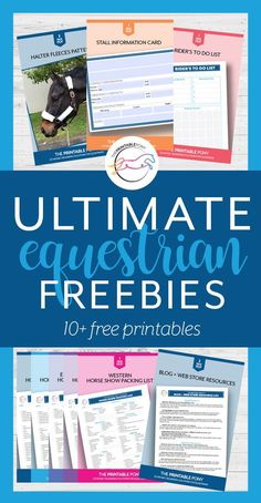 Get free printables to help you organize your equestrian lifestyle! Horseback Riding Outfits, Free Horses, Horse Crafts, Baby Massage, Horse Tips, Equestrian Outfits, Equestrian Style, Horse Training, Training Tips