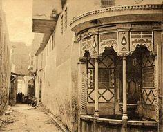 An old fountain in Damascus early 20 C