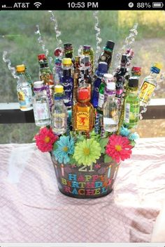 21st birthday gift basket idea.