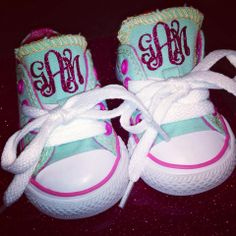 GLITTER MONOGRAM Baby Toddler Kids Chuck by SweetGeorgiaDesigns, $45.00