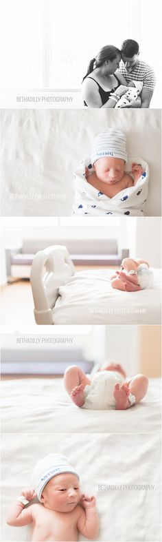 the first 48 | northern virginia in hospital newborn photographer | bethadilly photography