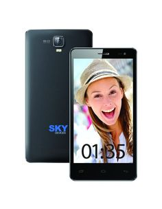 Sky 5.5W QHD 4G ready Dual SIM Android Sky Devices 4GB 8MP Unlocked GSM BLACK #SKYDEVICES #Bar
