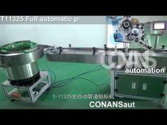 Full automatic pipe labeling machine T11325 وضع العلامات قارورة غير النظ...