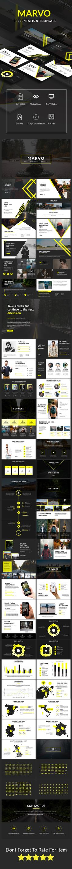 Marvo Presentation Template - PowerPoint Templates Presentation Templates