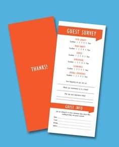 restaurant customer feedback cards