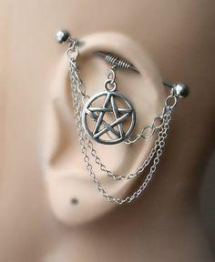 Industrial Barbell Ear Piercing-Earring by triballook on Etsy