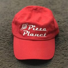55692b314f7b7 New Pizza Planet Hat Baseball Cap For Women and Man Dad Hat Summer Sun Pizza  Cotton Snapback Embroidery Sport Cap Casual Brand