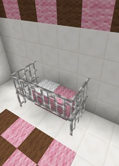 Minecraft Baby Room Bed Crib Furniture