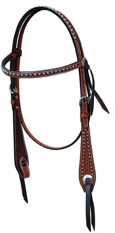 "20% off your entire order with Promo Code ""THANKS"" until Nov. 30, 2014 - Happy Thanksgiving from Bar H Equine Classic Basket Weave Browband 