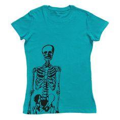 Skeleton Tee Women's now featured on Fab.com (designed by my friend Jes Switaj)