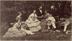 In a garden, c. 1850