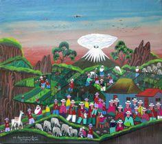 Tigua Painting | Naive Art Online Jose Vega Cuyo