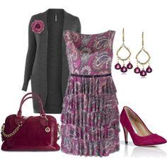 Ruffle Dress - Plus Size, created by alexawebb on Polyvore