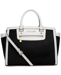 MICHAEL Michael Kors Selma Zip Large Satchel - Spring Florals - Handbags & Accessories - Macy's