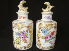 french pair of scent bottles
