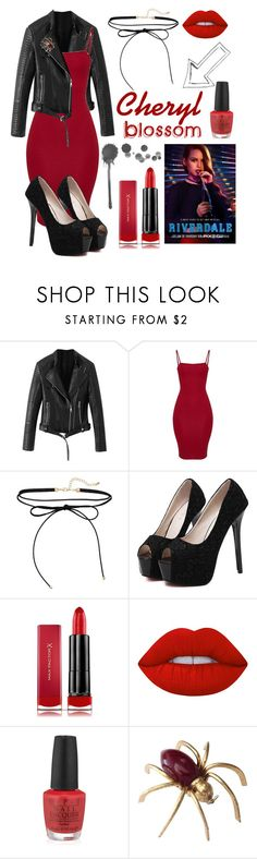 """Riverdale:: Cheryl Blossom"" by dreamgirl-01 ❤ liked on Polyvore featuring WithChic, Max Factor, Lime Crime and OPI"