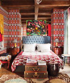 Sig Bergamin's bedroom