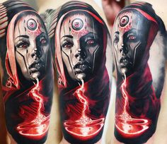 Realistic Movies Tattoo by Andrey Kolbasin
