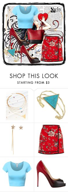 """""""SheIn 5"""" by dinka1-749 ❤ liked on Polyvore featuring River Island, Christian Louboutin and Calvin Klein"""